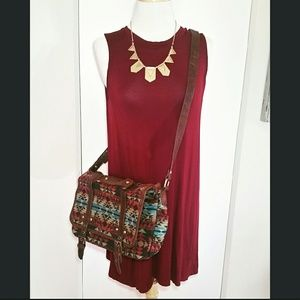ASOS Aztec Print Crossbody Handbag Purse