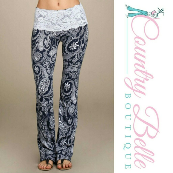 100% off Pants - Dream worthy lace Gaucho pants from Country ...