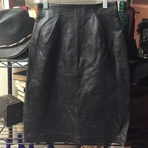 Dresses & Skirts - Leather skirt