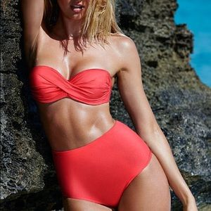 Other - Pink twist bandeau bathing suit top
