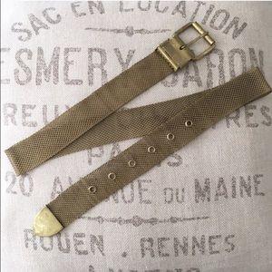 Vintage Gold Metal Belt