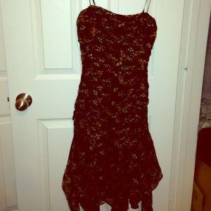 Betsey Johnson floral spaghetti strap dress