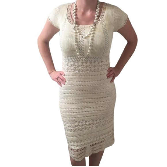 Kroshetta By Papillon Dresses Brides Ivory Crochet Dress Poshmark