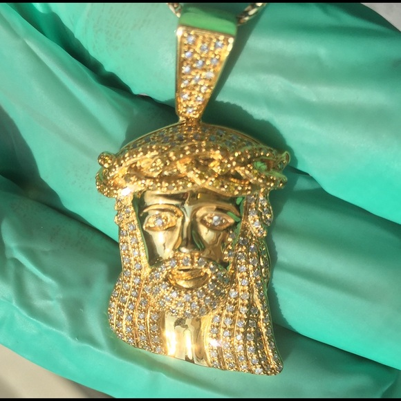Custom jewelry 10k solid gold jesus piecependant with diamonds 10k solid gold jesus piecependant with diamonds mozeypictures Image collections