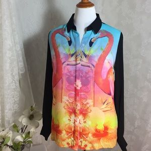 long sleeve with flamingo blouse.FINAL CLEARANCE