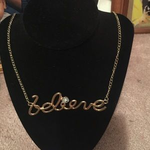 Believe gold necklace