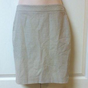 Ann Taylor Seersucker pencil skirt