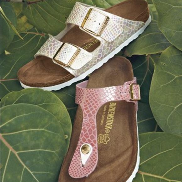 Mayari Shiny Snake Cream | Birko Flor Little Tree Shoes