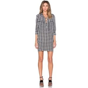 NWT Equipment Knox Printed Lace Up Silk Dress M