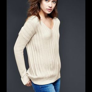 💕HP💕GAP Wool Blend Ribbed V-neck Sweater XL NWT