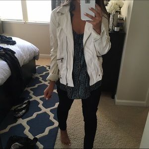 Zara Faux White Jacket
