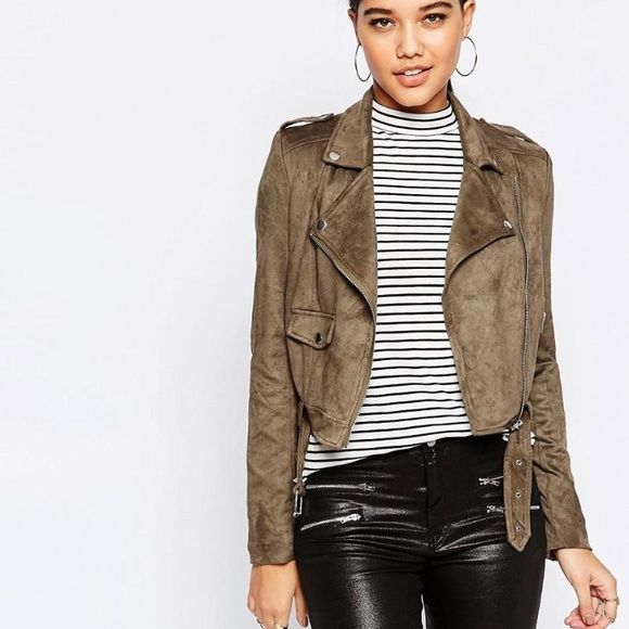 04a1f064cdd2 Missguided Jackets & Coats | Salemisguided Suede Biker Jacket | Poshmark