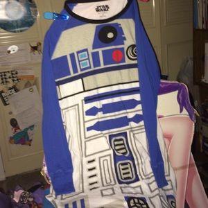 Star Wars R2-D2 night shirt nightgown M R2D2