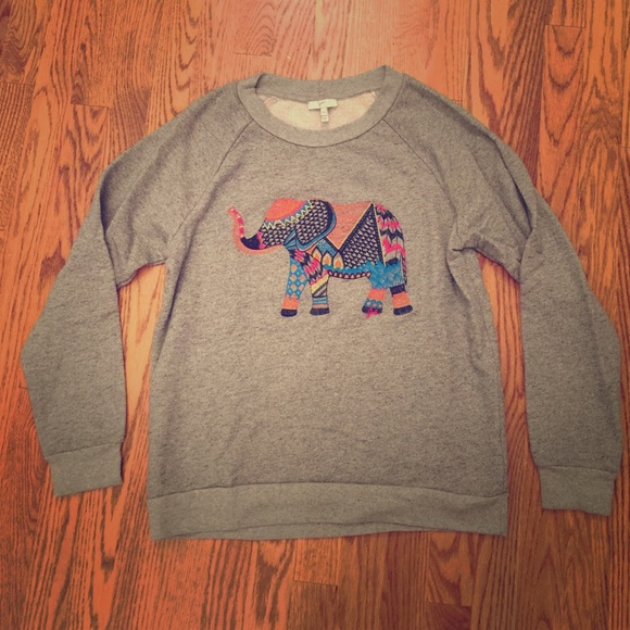 2bfc0c3cb58eef Joie Tops - Joie Embroidered Elephant Sweatshirt