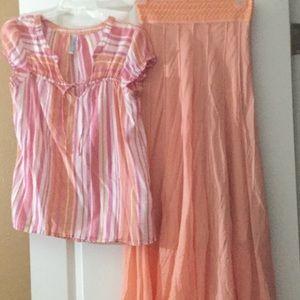 Pretty Peach Skirt n Top (sold separate by req)