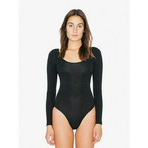American Apparel Black Long Sleeve Bodysuit