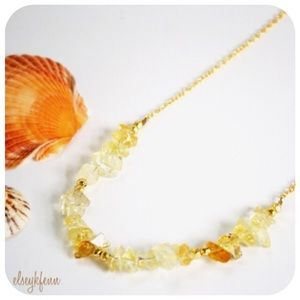 Function & Fringe Jewelry - ✂️CLEARANCE 2xHP Citrine Stone Chip Necklace