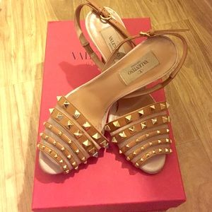 Valentino Shoes - Authentic Valentino Rockstud sling back pumps