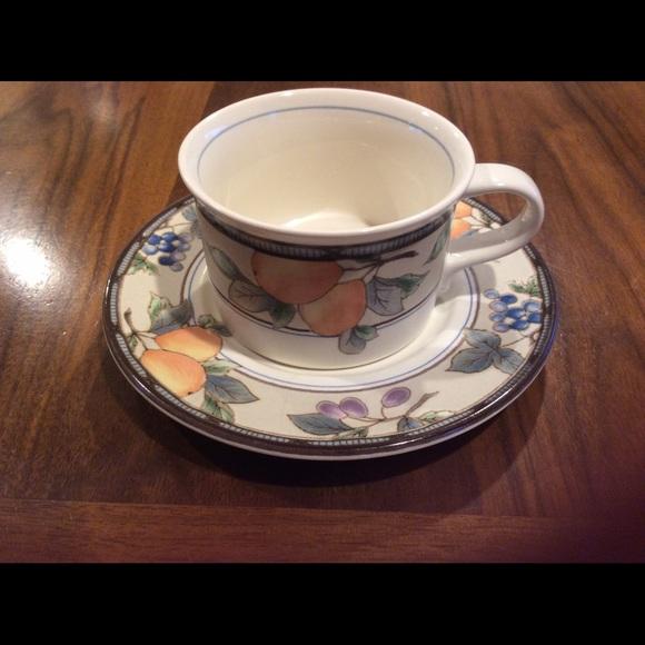 mikasa garden harvest tea cup and saucer - Mikasa Garden Harvest