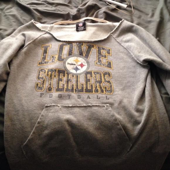 best service da0e6 cc70d Steelers off the shoulder sweatshirt!