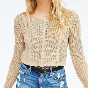 UO X UNIF Cable-Knit Crop Sweater