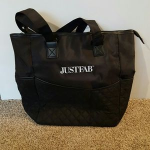 NWOT JustFab black quilted tote