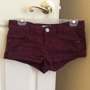 Tilly's Pants - Maroon shorts from Tilly's (RSQ brand)