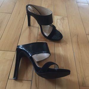 Black super chic mules