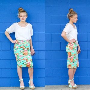 Dresses & Skirts - Floral Pencil Skirt