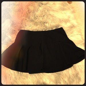 Black Skater-Style Skirt