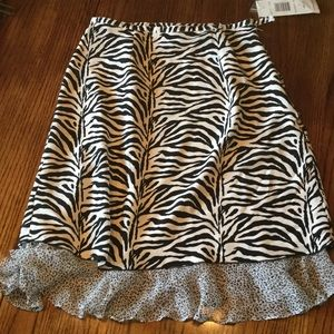 Allison Taylor Dresses & Skirts - Zebra print silk skirt
