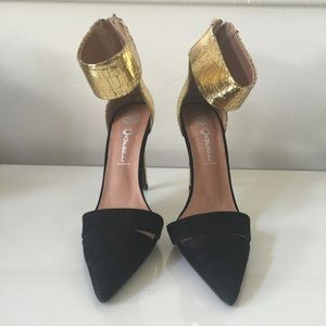 Jeffrey Campbell pointed ankle pumps