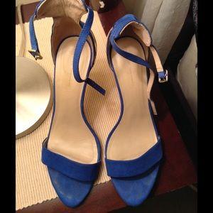 Zara blue suede heels size 40