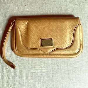 Cole Haan leather mirror wristlet