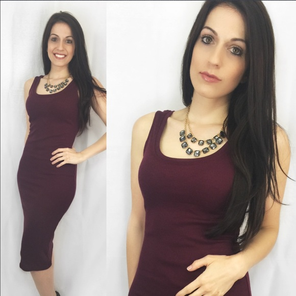 ValMarie Boutique Dresses & Skirts - LAST ONE! Size L- Burgundy Lightweight Midi Dress