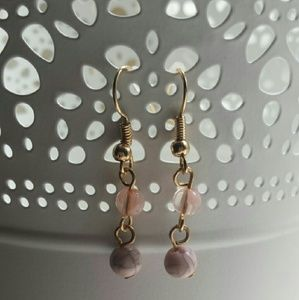 Twilight Gypsy Collective Jewelry - Pink Bead Earrings