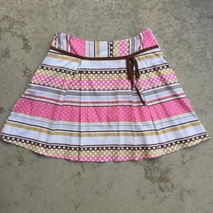 Dotty Stripe Mini Skirt