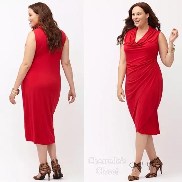 Lane Bryant - 💔Sold! Lane Bryant Cowl Neck Dress Plus Size 2X ...
