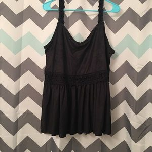 NWT Torrid Faux Suede Babydoll Tank Top Size 1X