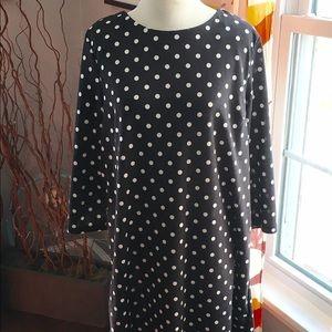 H&M black and white polka dot dress, med