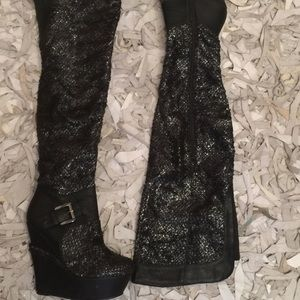 Shoes - $25 OVER THE KNEE WEDGE BOOTS