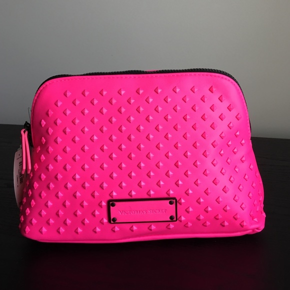 5d16e62d3d Pink studded cosmetic bag