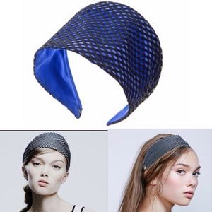 Colette Malouf Accessories - Colette Malouf Blue Silk Headband