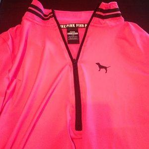 Pink athletic half zip