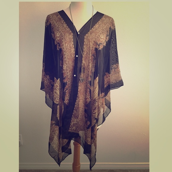 Accessories New Multiway Chiffon Poncho Cover Up Poshmark