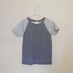 J. Crew Tops - j.crew soft gray two tone quilted shoulder top