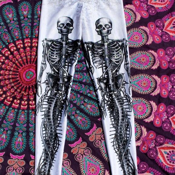 59fc0c4c45898b Blackmilk Pants | Mechanical Mermaid Skeleton Leggings | Poshmark