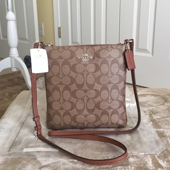 6f8b51561b AuthenticCoach Signature North South Crossbody Bag