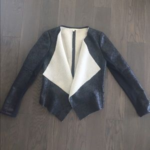Matty M Jackets & Blazers - Faux leather and shearling jacket