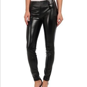 French connection faux leather snake legging